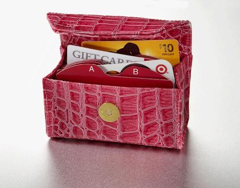 pink card cubby