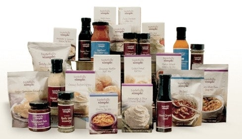 tastefully simple products 2