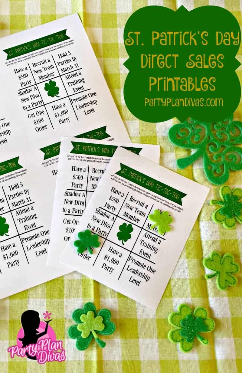 Free St Patrick's Day Printables to Help Your Direct Sales Business