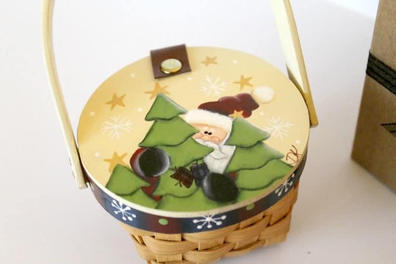 mini santa basket