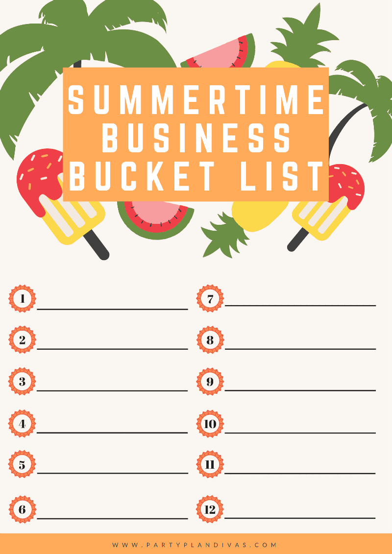 Your Summer Business Bucket List