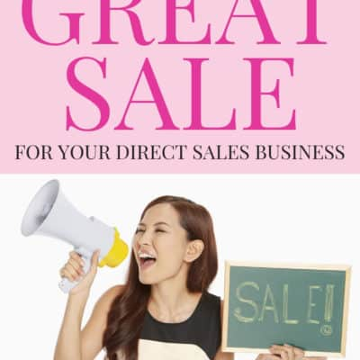 How To Run A Great Sale