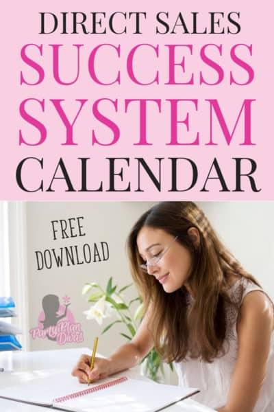 free direct sales calendar