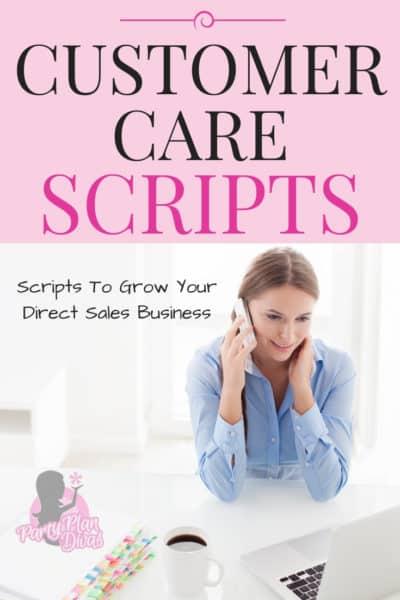 direct sales customer care scripts