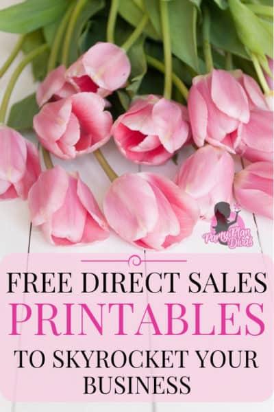 free direct sales printables list