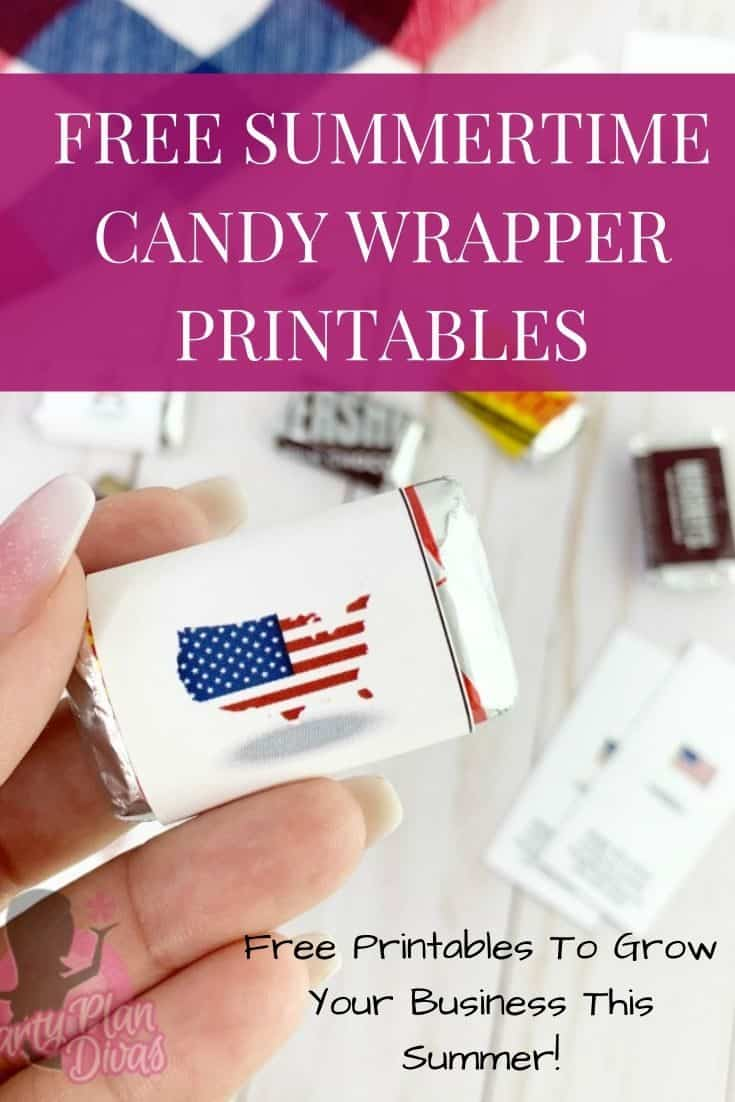 Summertime Candy Wrapper Printables