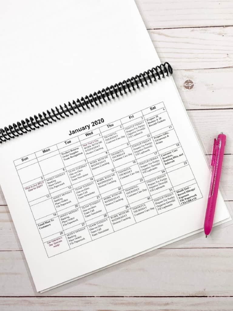 direct sales calendar