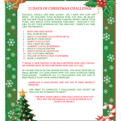 Holiday Team Building Challenge Printable