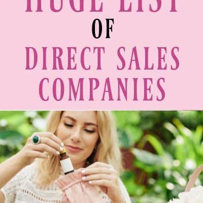 Huge List of Direct Sales Companies
